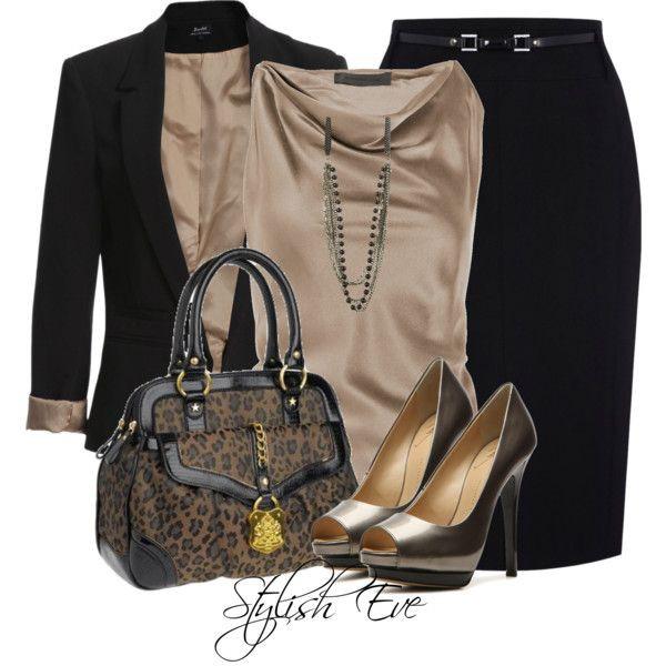 blouse pencil skirt