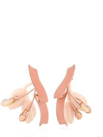 earrings pink jewels