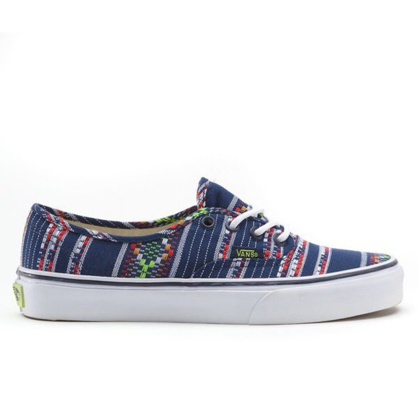 shoes vans blue stripes cool