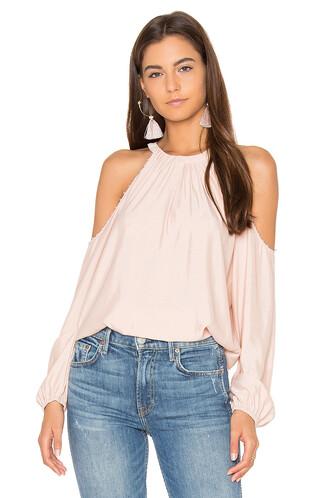 blouse blush top