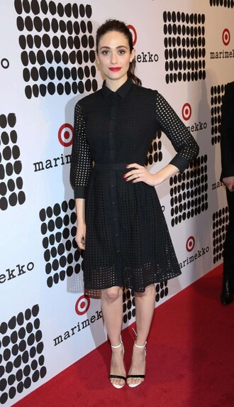 dress emmy rossum sandals black dress midi dress mesh dress mesh