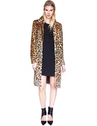 Leopard Faux Fur Coat - Leopard Coat-$196