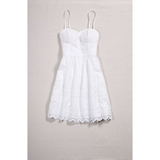 dress white white dress bustier sun dress