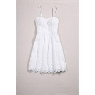 dress white white dress bustier sundress