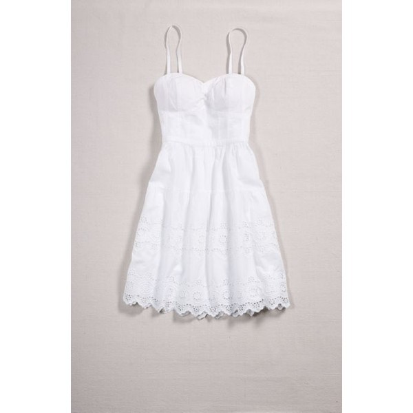 dress white white dress bustier sundress