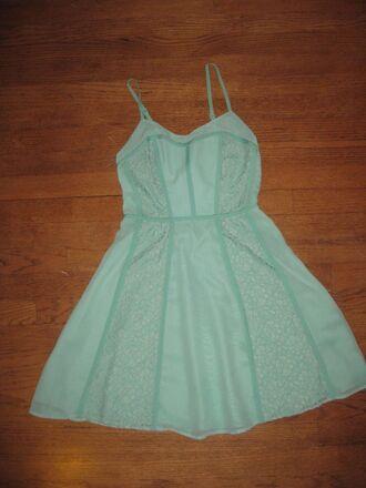 dress summer summer dress mint mint dress lace lace dress green green dress skater dress