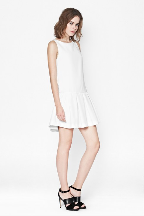 Helkan Ruffle Dress - Dresses - French Connection