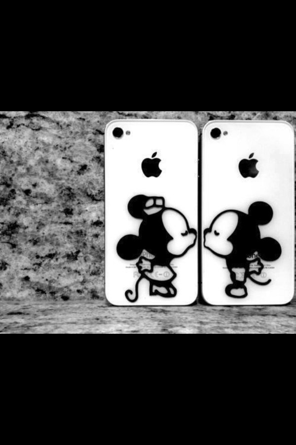 jewels mickey mouse minnie mouse iphone cover