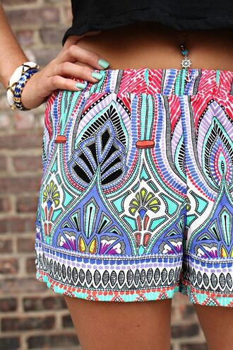shorts printed printed shorts