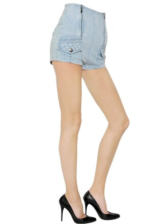 shorts denim shorts denim high waisted high cotton blue