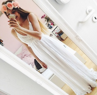 dress white lace long dress white dress lace dress