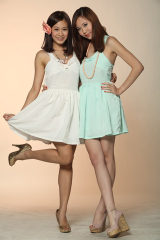 [six&twelve] criss cross back dress (mint)