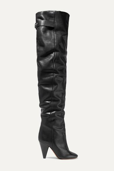 Isabel Marant - Likita Leather Over-the-knee Boots - Black - Likita Leather Over-the-knee Boots