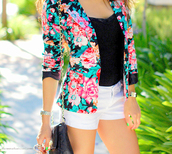 jacket,floral,flowers,blouse,pretty,cute,shorts,white shorts,roses,shirt,bag,clothes,girly,instagram,майка,сумка,liberty,floralblazer,colorful,turquoise,blazer,black and floral,black,top,white,pink,green,fabric,coat,cute coat,brendaastyles94,allstars,converse,shoes,jewels,tank top,coloured,classy,aqua,tropical,floral jacket,summer,bright,blue,pink and flowery jacket,apricot floral blazer,sweater,multicolor,red,yellow,long sleeves,floral print jacket,floral prints,spring outfits,fashion,black top,black bag,cute jacket,flower blazer,black blazer,gorgeous,beautiful,outfit,hot,floral blazer,spring summer 2014,trendy,style,blackbarbie,90s style,cute outfits,chain purse,summer trends,spring jacket,vintage,suit jacket,summer outfits,girls jacket,t-shirt,tumblr,tumblr girl,girly outfits tumblr,cardigan,pink flowers,blue flowers,girl,long sleeved shirt,black shirt,v neck,denim,denim shorts,white denim shorts,silver watch,bangle,gold bangles,shoulder bag,gold chain bag,black and gold bag,nail polish,green nailpolish,nails,formal,purse,handbag,short,kimono,watch,jewelry,bracelets,gold,chanel,gucci,louis vuitton,hipster,fall outfits,indie,alternative,cool,swag,yolo,streetwear,tumblr outfit,tumblr clothes,summer top,flower blazer floral,black multi coloured flowery jacket,tissue,fleurs,spring,floral coat,long skirt,colorfull coat,funny,summer jacket,black floral jacket,teenagers,floral dress