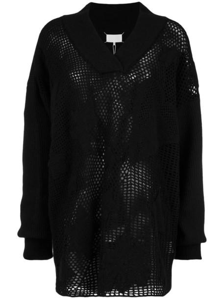 MAISON MARGIELA sweater open women weave black wool