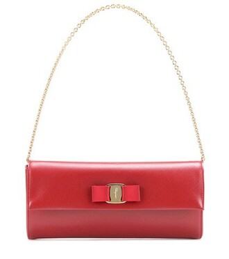 leather clutch clutch leather red bag
