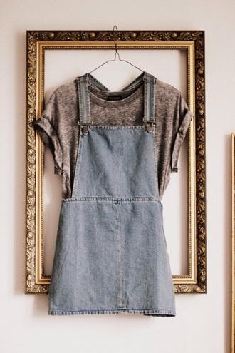 dress t-shirt acid wash grey denim dress