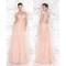 Back bowtie rhinestone embellished ankle-length bridesmaid dress - $190.99