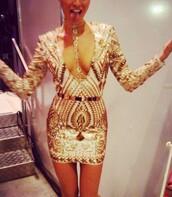 dress,official brand,gold,gold sequins,sequins,party,party dress,bodycon,bodycon dress,cute,cute dress,summer dress,summer outfits,short dress,prom,prom dress,prom gown,xmas party dress,new year's eve,black dress,necklace,jewels,belt,sexy dress,sexy,hot,gold chain,body chain,little black dress,celebrity,celebruty style,kim kardashian
