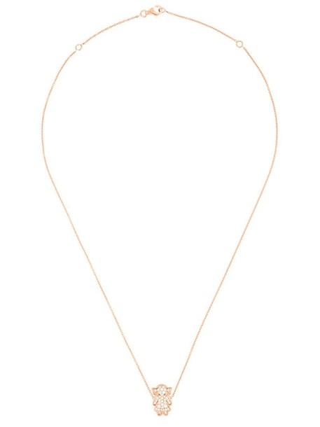 Alinka rose gold rose women necklace pendant gold grey metallic jewels