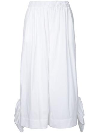 cropped women spandex white cotton pants