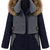 ROMWE | Color Block Detachable Hood Woolen Coat, The Latest Street Fashion
