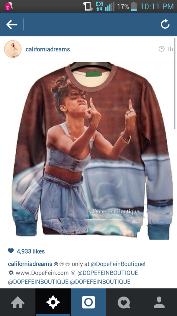 sweater rihanna sweatshirt