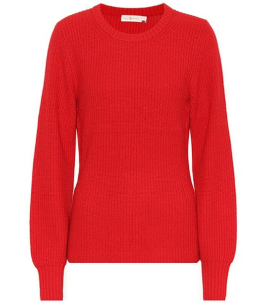 Tory Burch Wool and cashmere-blend sweater in red