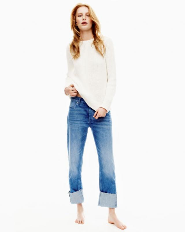 The Phoebe Jean Mid Rise Slouch Leg Electric Vintage