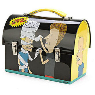 home accessory lunchbox metal beavis and butt-head