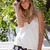 Shop Fashion Avenue - White Waterfall Top