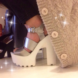 shoes white grey white shoes white high heels