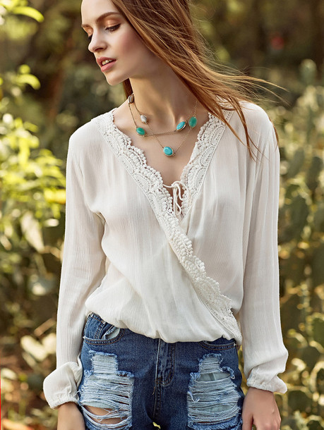 top zaful white boho boho chic turquoise turquoise jewelry fashion trendy style casual fall outfits