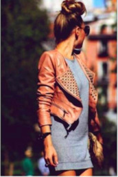 jacket,leather jacket,leather,tan leather,camel leather,crop leather jacket
