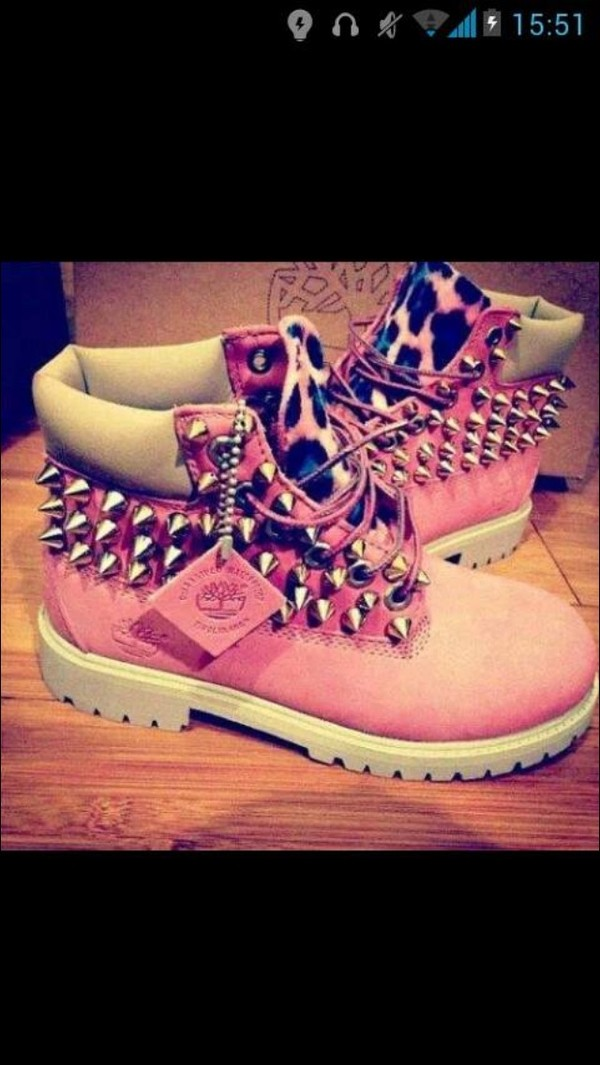 shoes leopard print pink rose boots leopard timberlands