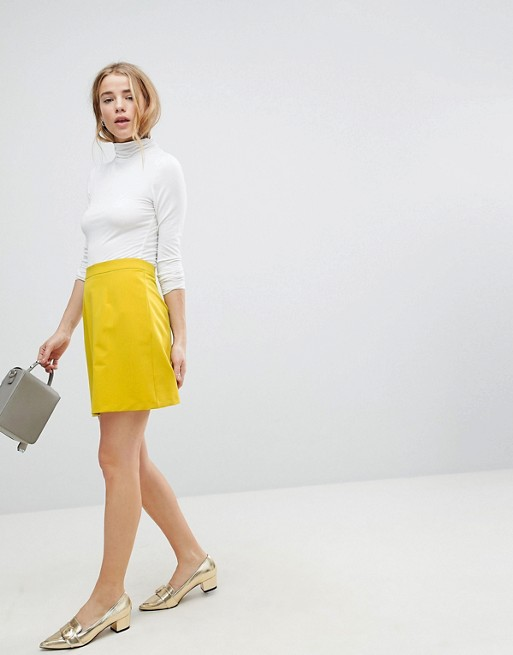 ASOS Tailored A-Line Mini Skirt at asos.com