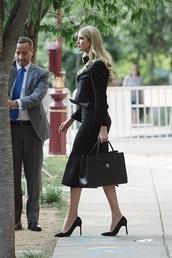 shirt,ivanka trump,skirt,blazer,bag,shoes,heels,high heels,black skirt,summer,summer outfits