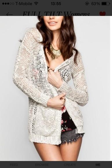off the shoulder cardigan wool