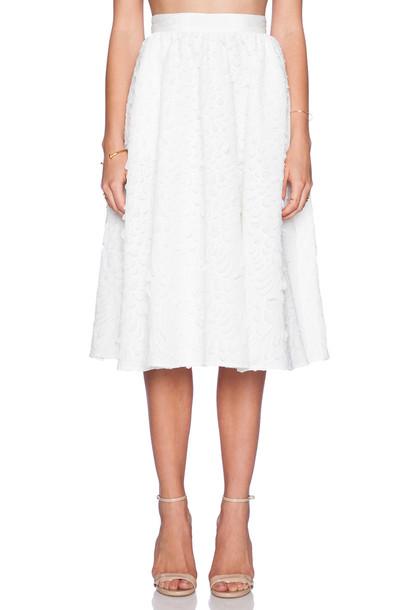 Sam Edelman Full Mid-Length Skirt in white