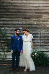 ruffled blog,blogger,hipster wedding,groom wear,mens blazer,petrol,vintage dress