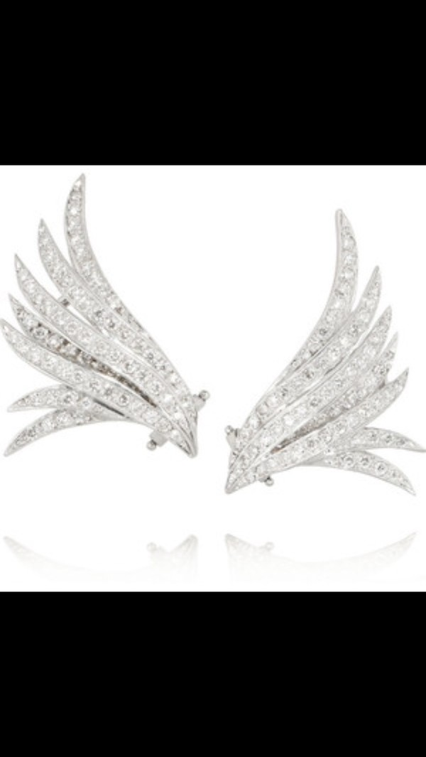 jewels earrings angel wing