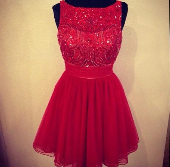 red dress style silk dress bedazzled prom dress 2014 short dress cotton-silk dress sparkly dress dress sleveless dress tulle skirt tulle dress