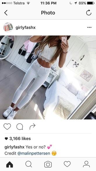 top white lace girlfashx midriff criss cross white lace top