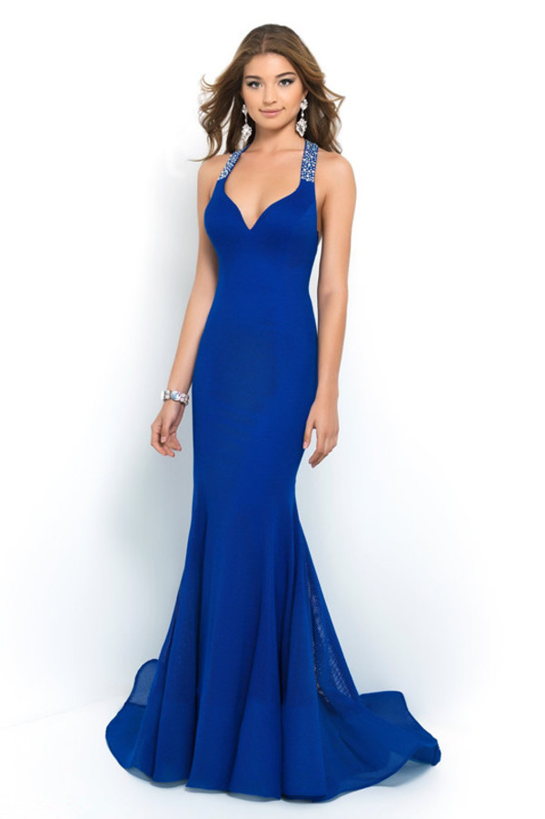 royal blue dress chiffon dress mermaid prom dress long prom dress royal blue dress v neck dress