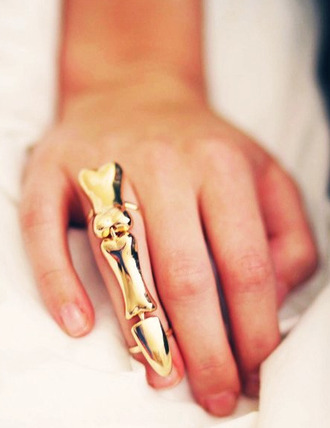 jewels knuckle ring bones gold mid finger rings