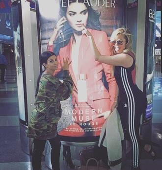 jumpsuit khloe kardashian adidas celebrity kardashians
