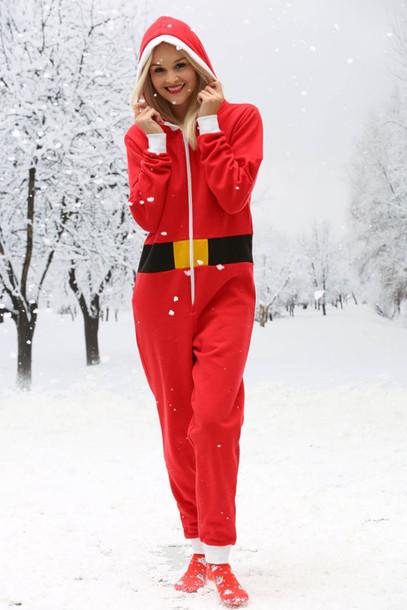 jumpsuit christmas suit christmas christmas sweater sweater sweat the style santa claus santa cruz santacruz santa shirt wheretoget - Christmas Sweater Suit