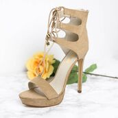 shoes,peppermayo,camel,camel heels,beige,beige heels,strappy heels,lipstik,lipstik shoes