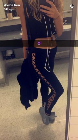 pants leggings black