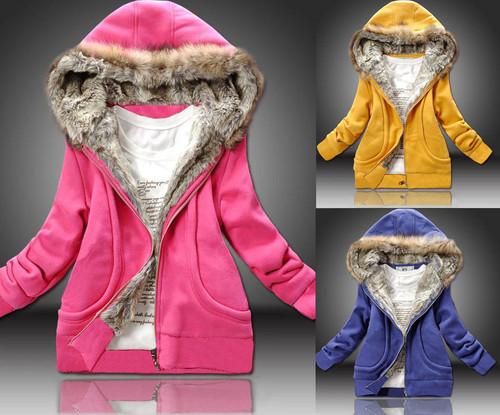 Winter Women's Fleece Jacket Hood Coat Long Sleeve SWEATS Jumper Hoodie SZ S-XXL | Amazing Shoes UK
